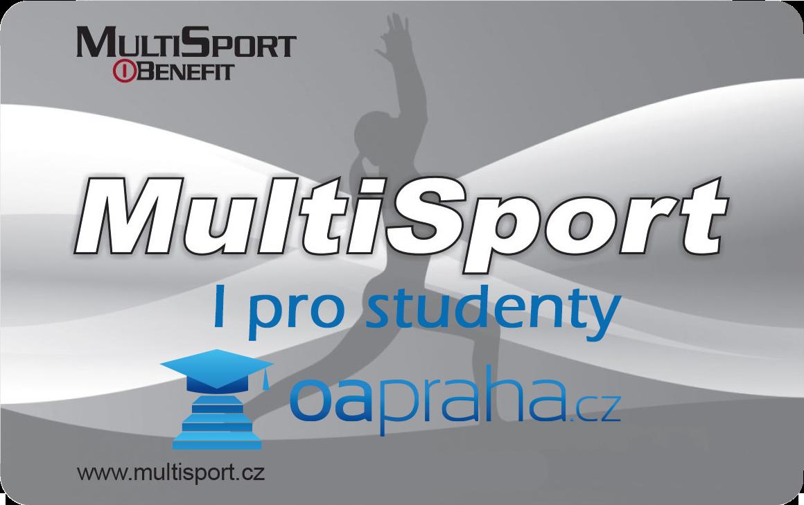 Multisport karta pro studenty OA Praha