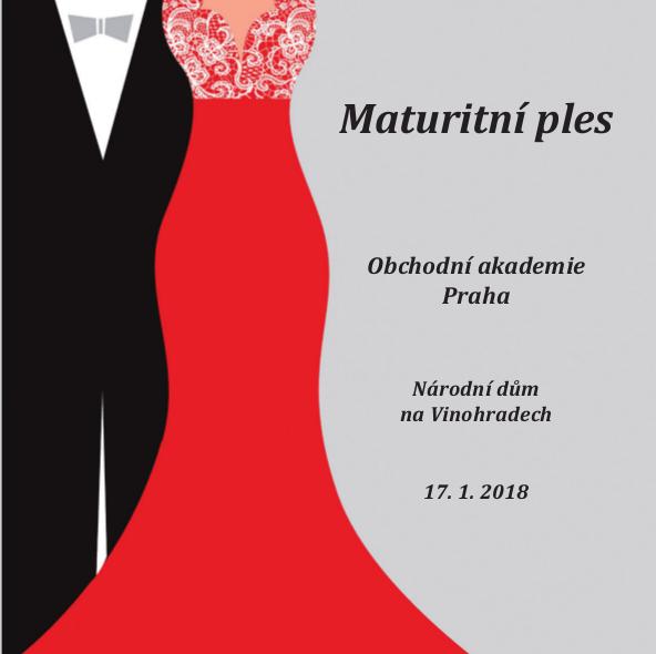 Pozvánka na maturitní ples Obchodní akademie Praha